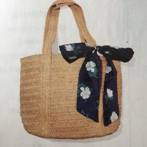 Draper James straw bag